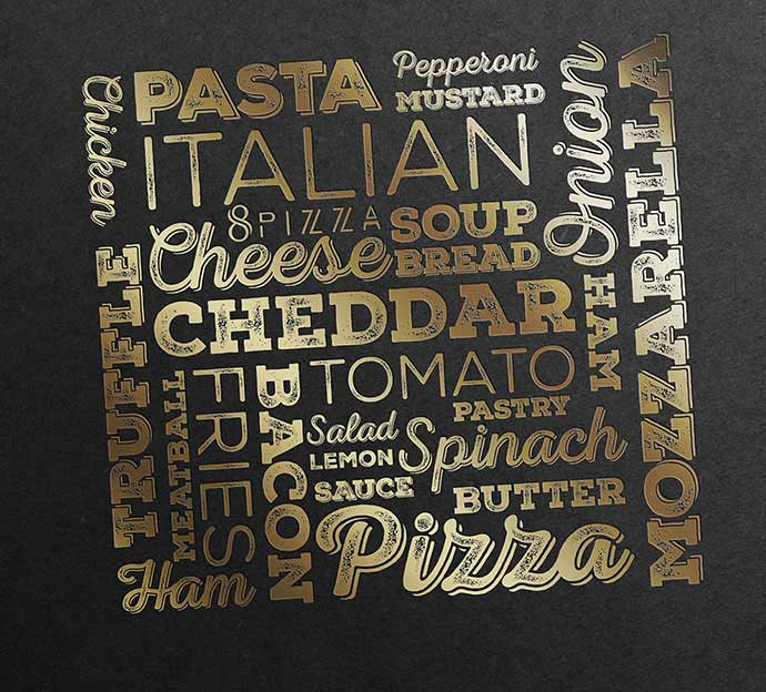 8pizza-Restaurant - 53+ FREE Timeless Vintage & Retro Typography Designs IDEA [year]