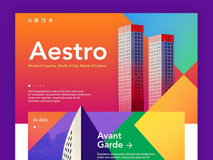 Aestro - 53+ GREAT Architecture Website UI Designs IDEA [year]
