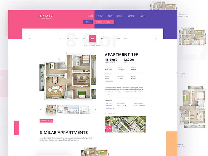 Apartment - 53+ GREAT Architecture Website UI Designs IDEA [year]