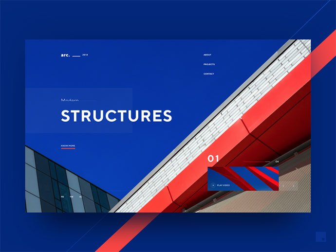 Arc.-2018 - 53+ GREAT Architecture Website UI Designs IDEA [year]