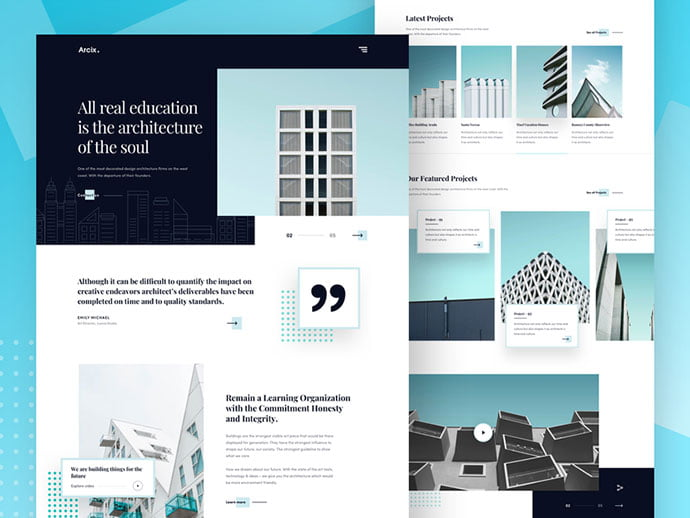 Architecture-Firm - 53+ GREAT Architecture Website UI Designs IDEA [year]