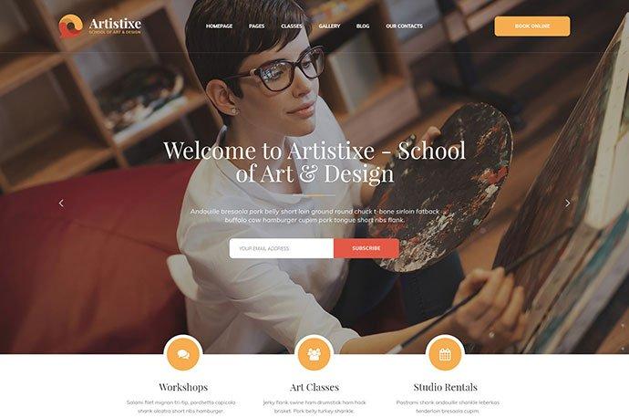 Artistixe - 53+ BEST Designed PSD Website Templates [year]