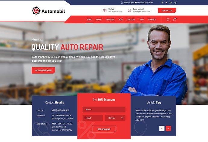 Automobil - 53+ BEST Designed PSD Website Templates [year]