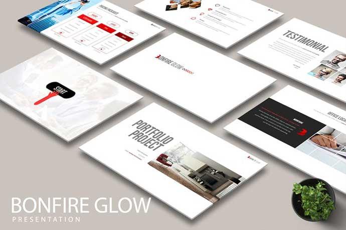 BONFIRE-GLOW - 35+ BEST Google Slide Templates [year]
