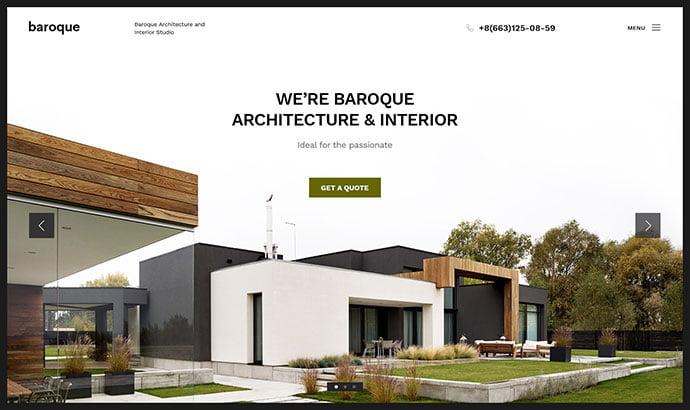 Baroque - 53+ BEST Designed PSD Website Templates [year]