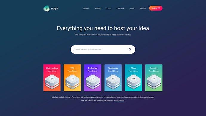 Bilqis - 53+ BEST Designed PSD Website Templates [year]