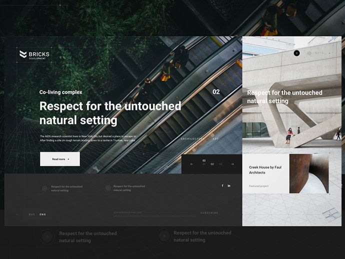 Bricks-Development-Blog - 53+ GREAT Architecture Website UI Designs IDEA [year]