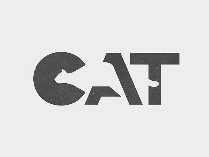 CAT-Logo - 36+ NICE FREE Logos Playing With Perspective IDEA [year]