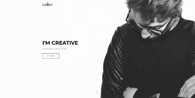 Candy - 33+ NICE Developer WordPress Portfolio Themes [year]