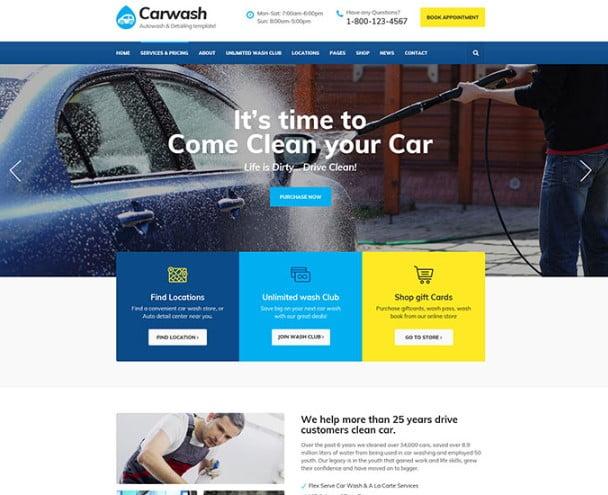 Car-Wash - 53+ BEST Designed PSD Website Templates [year]