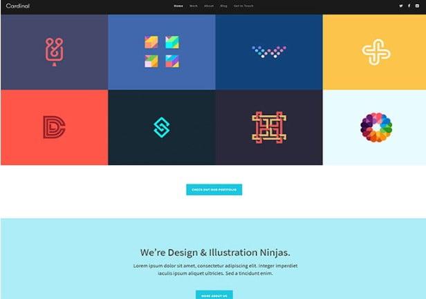 Cardinal - 33+ BEST Logo Designer WordPress Themes [year]