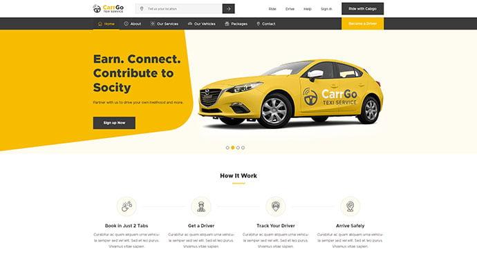 CarrGo - 53+ BEST Designed PSD Website Templates [year]