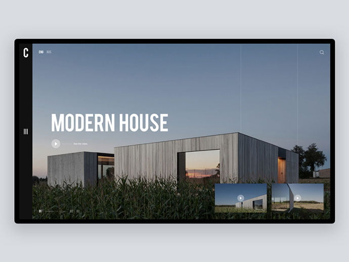 Caswes-House - 53+ GREAT Architecture Website UI Designs IDEA [year]