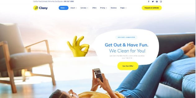 Clany - 33+ AWESOME Blob Shaped WordPress Themes [year]