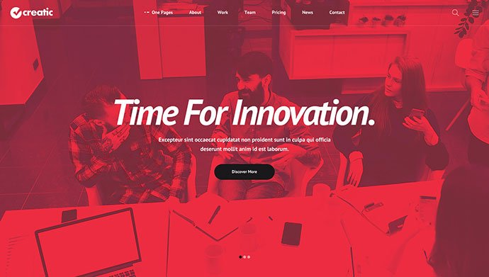 Creatic-1 - 53+ BEST Designed PSD Website Templates [year]