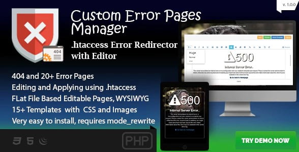 Custom-Error-Page-Manager - 53+ BEST FREE CSS 404 Error Page IDEA [year]