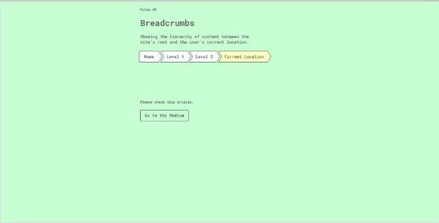Cutup - 38+ FREE CSS Breadcrumb Navigation IDEA [year]