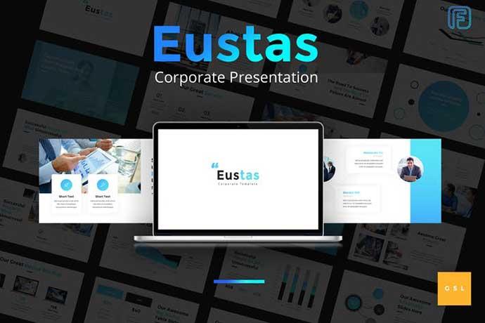 Eustas-Blue - 35+ BEST Google Slide Templates [year]
