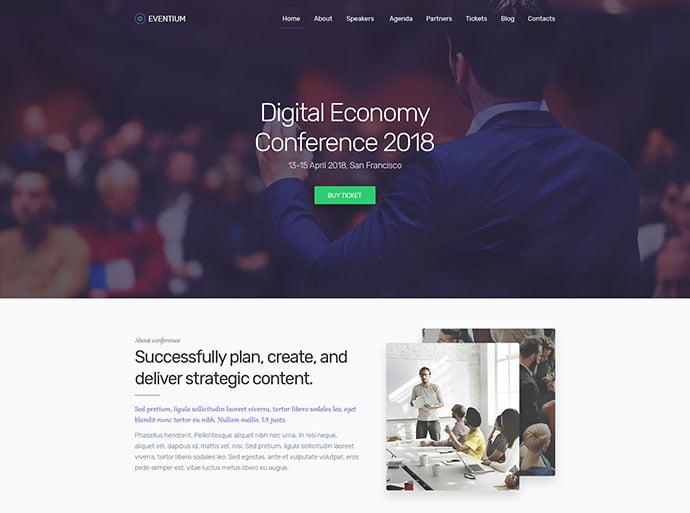 Eventium - 53+ BEST Designed PSD Website Templates [year]