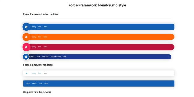 Force-Framework - 38+ FREE CSS Breadcrumb Navigation IDEA [year]