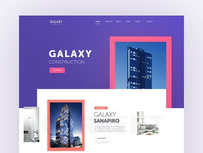 Galaxy-Construction - 53+ GREAT Architecture Website UI Designs IDEA [year]