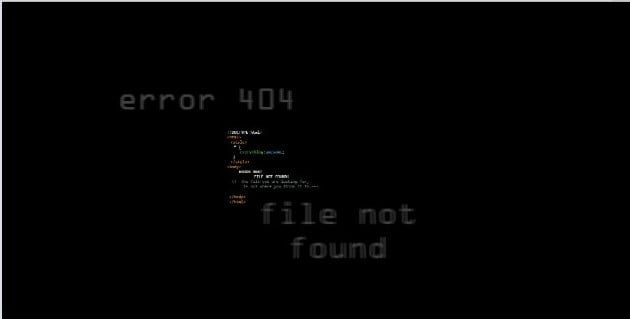 Glitched-out - 53+ BEST FREE CSS 404 Error Page IDEA [year]
