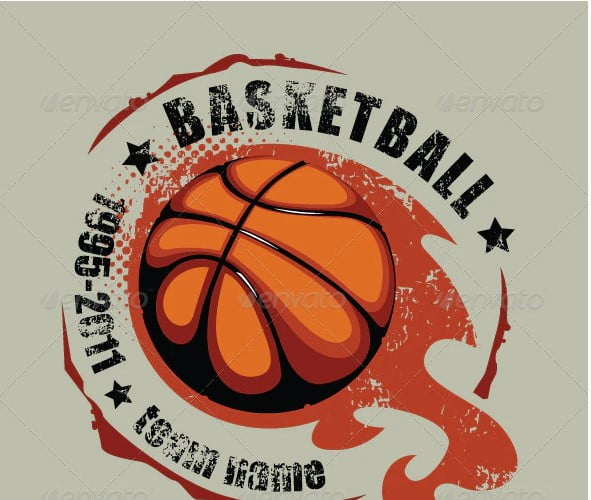 Grunge-basketball-T-shirt-design - 35+ GREAT FREE Interesting T-shirt Designs IDEA [year]