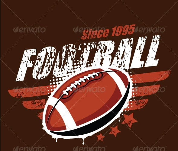 Grunge-football-T-shirt-design - 35+ GREAT FREE Interesting T-shirt Designs IDEA [year]