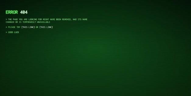 Hacker - 53+ BEST FREE CSS 404 Error Page IDEA [year]
