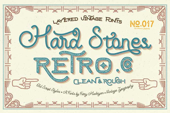 Hard-Stones-Family - 53+ FREE Timeless Vintage & Retro Typography Designs IDEA [year]
