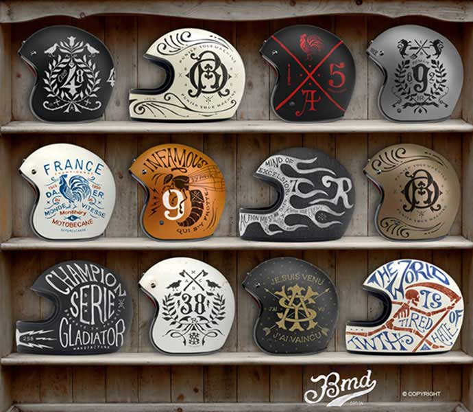 Helmets-Private-Collection - 53+ FREE Timeless Vintage & Retro Typography Designs IDEA [year]