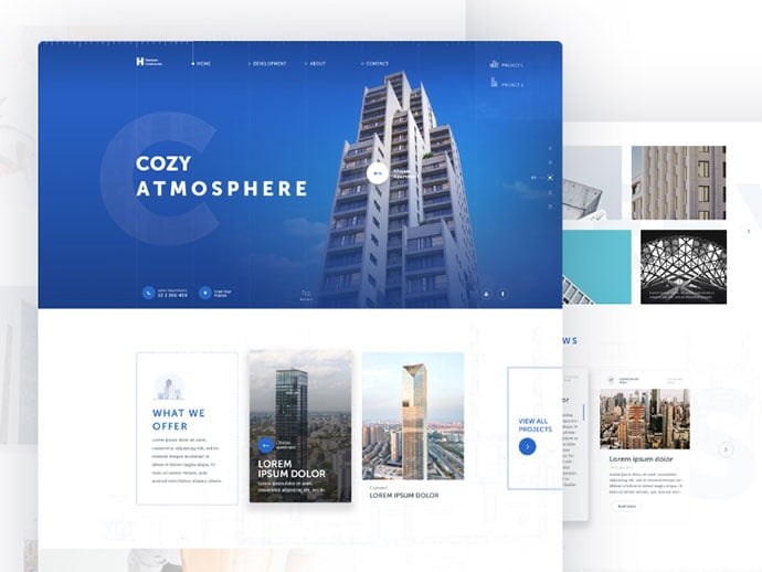 Horizon-Construction - 53+ GREAT Architecture Website UI Designs IDEA [year]