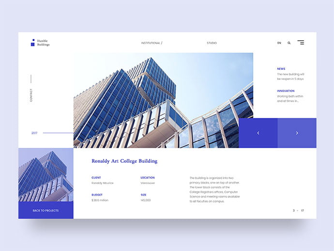 Humble-Buildings - 53+ GREAT Architecture Website UI Designs IDEA [year]