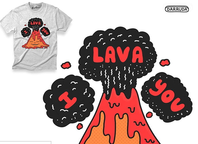 I-Lava-You - 35+ GREAT FREE Interesting T-shirt Designs IDEA [year]