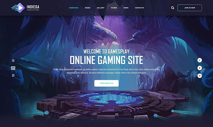 Indiega - 53+ BEST Designed PSD Website Templates [year]