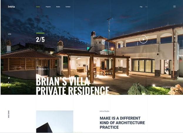 Intria - 53+ BEST Designed PSD Website Templates [year]