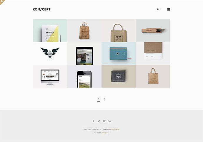 KONCEPT - 33+ BEST Logo Designer WordPress Themes [year]