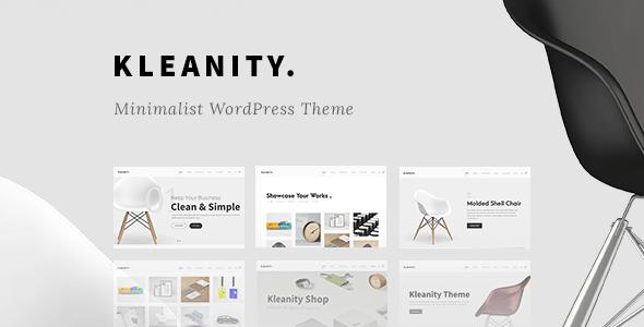 Kleanity - 33+ BEST Logo Designer WordPress Themes [year]