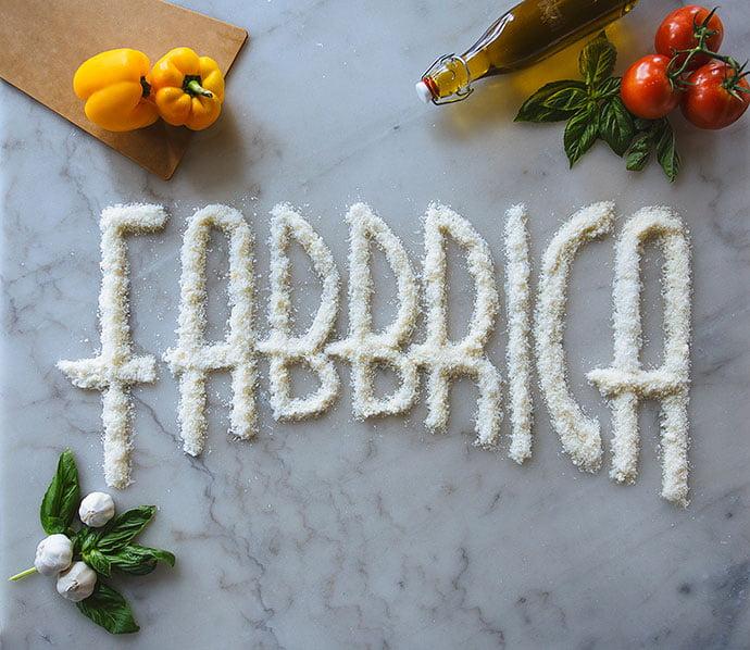 La-Fabbrica-Pizzeria - 38+ BEST FREE Tactile Typography IDEA [year]