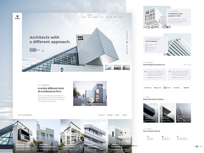 Marc - 53+ GREAT Architecture Website UI Designs IDEA [year]
