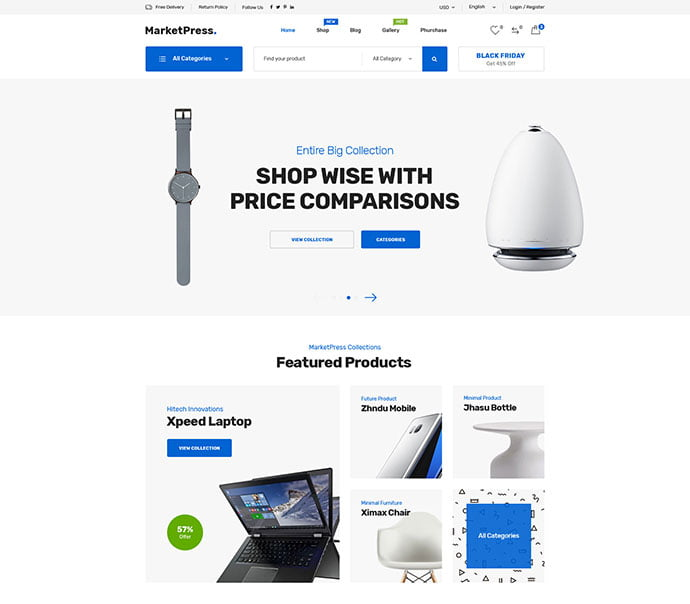 MarketPress - 53+ BEST Designed PSD Website Templates [year]
