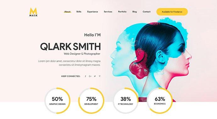 Mask - 53+ BEST Designed PSD Website Templates [year]
