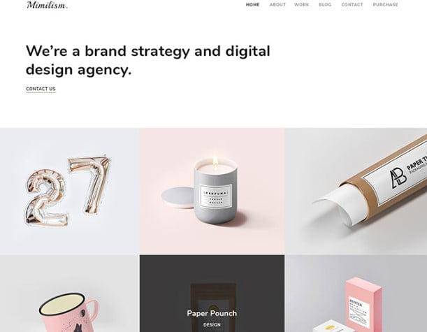 Mimilism - 53+ BEST Designed PSD Website Templates [year]