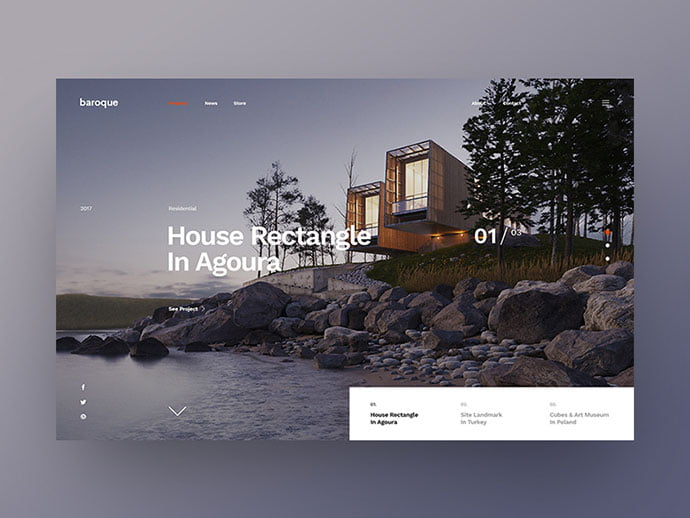 Minimal-Concept - 53+ GREAT Architecture Website UI Designs IDEA [year]