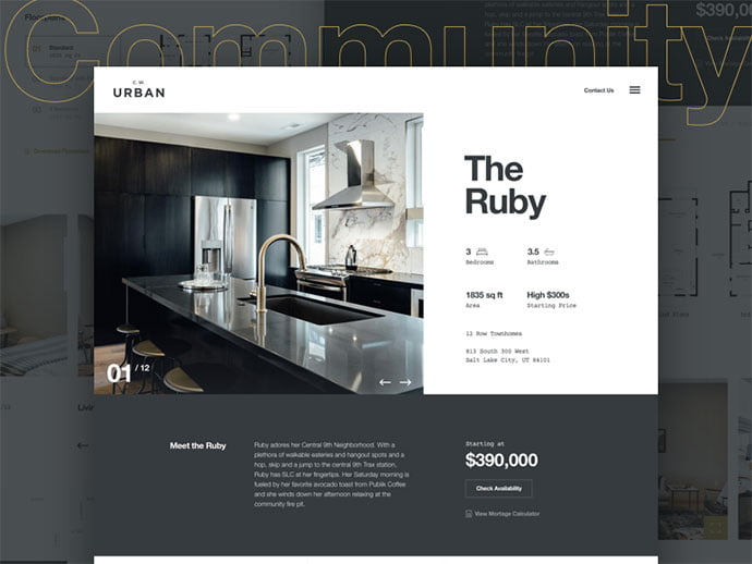 Modern-Townhome - 53+ GREAT Architecture Website UI Designs IDEA [year]