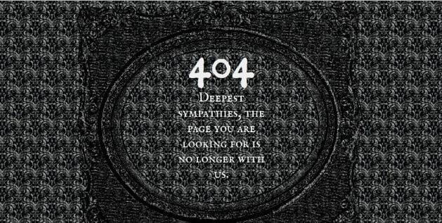 Morbid - 53+ BEST FREE CSS 404 Error Page IDEA [year]