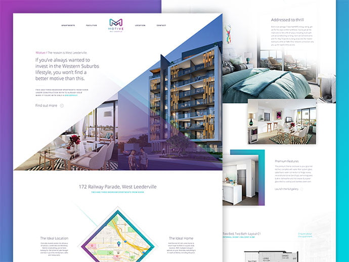 Motive-Apartments - 53+ GREAT Architecture Website UI Designs IDEA [year]