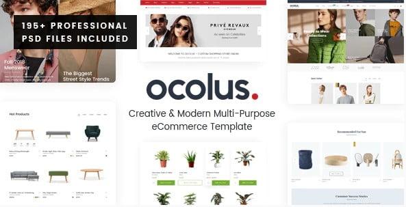 Ocolus - 53+ BEST Designed PSD Website Templates [year]