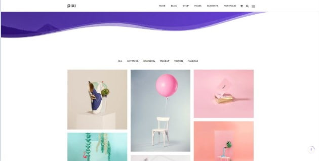Pixi - 33+ AWESOME Blob Shaped WordPress Themes [year]