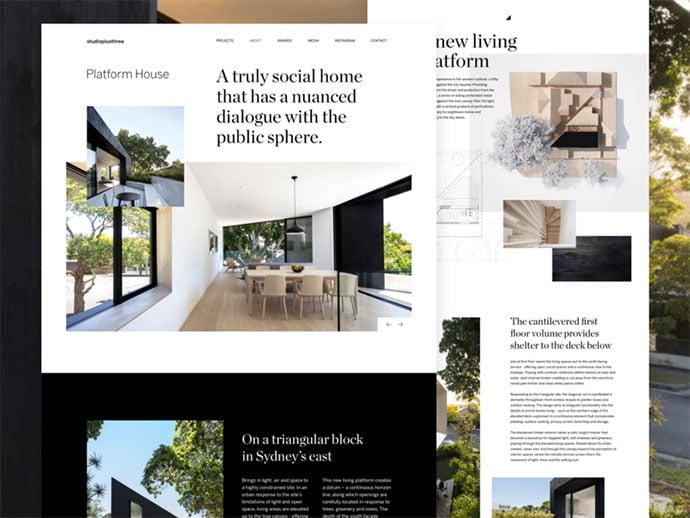 Platform-House - 53+ GREAT Architecture Website UI Designs IDEA [year]